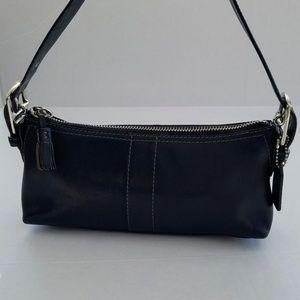 Coach Black Leather Baguette Bag